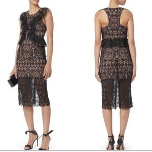 NWT Alexis Narasse Lace Midi Cocktail Dress